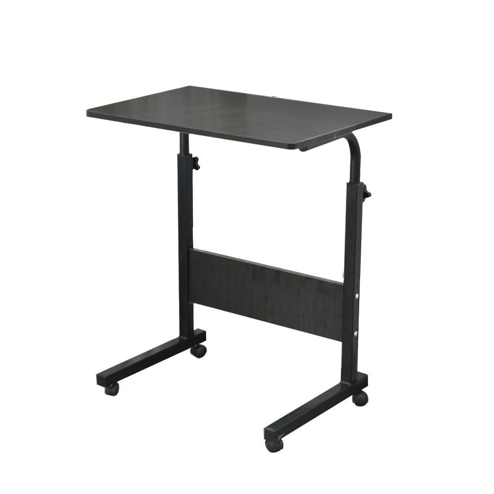 "Soges 31.5"" Adjustable Mobile Desk Portable Laptop Table Computer Stand Desk Cart Tray, Black 05-1-80BK"