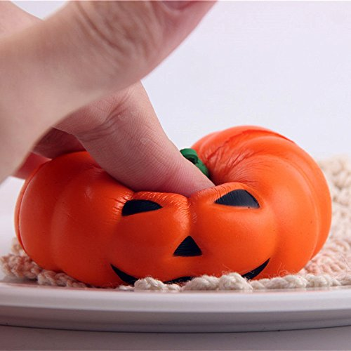 Zakally Squishy Toy Soft Exquisite Halloween Pumpkin Scented Stress Relief Toy Soft Toy Kawaii Collection Slow Rising Toy Decompression SimulationToys Cure Toy for Kid Gift 2018 -