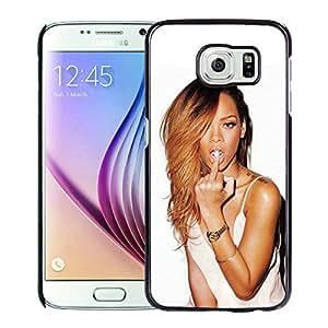 Custom Luxury Cover Case With Rihanna Black Samsung Galaxy S6 Case