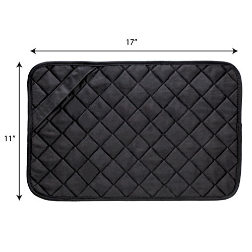 Large Product Image of Envision Home 422300 Trivet Mat, 11 by 17-Inch, Black