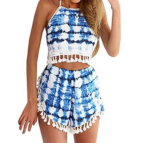 Tassel Crop Top Shorts Set Beachwear