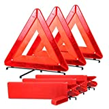 Automotive : Bigetaige Warning Triangle DOT Approved 3PK, Reflective Warning Road Safety Triangle Kit