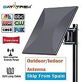 HDTV Antenna Digital,160 Miles Range Outdoor Indoor Signal Reception Amplifier Booster 32.8Ft Cable Tv Antenna