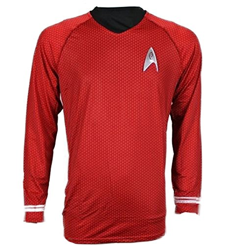 Oem Men's Star Trek Scotty Engineering Shirt Uniform L Red (Mascot Uniforms)