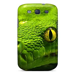 New Arrival Case Cover With Sxcyr14536GURIH Design For Galaxy S3- Greensnake