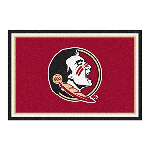 FANMATS NCAA Florida State University Seminoles Nylon Face 5X8 Plush Rug by Fanmats