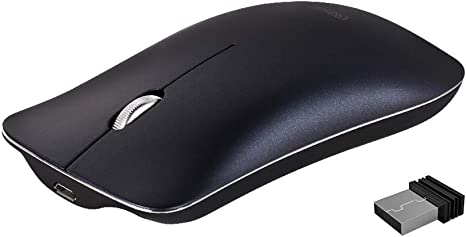 Plata Inphic Slim Silent Click Recargable 2.4G Ratones inal/ámbricos 1600DPI Mini /óptico port/átil de viaje wireless mouse para PC Ordenador port/átil Mac Rat/ón inal/ámbrico
