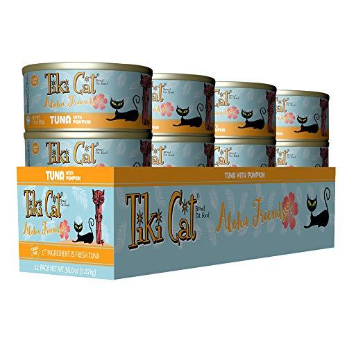 Tiki Cat Aloha Friends - 3 oz. 12 TR - Tuna Pumpkin (Best Friends Cat Food)