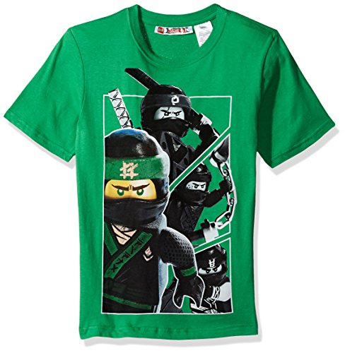 LEGO Ninjago Big Boys' T-Shirt, Green, 8