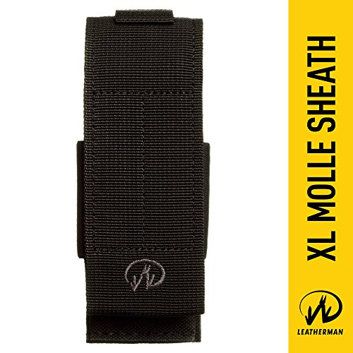 Molle Back Sheath - Leatherman - MOLLE Compatible X-Large Nylon Sheath, Fits MUT, Surge, and Super Tool 300 - Black