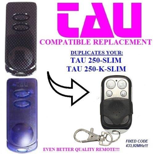Price comparison product image TAU 250 SLIM | 250 K SLIM Gate Motor Remote Control Key Fb - Range 70-100 Meter Compatible Remote With Battery 12v 27A Key Fob | Fix Code