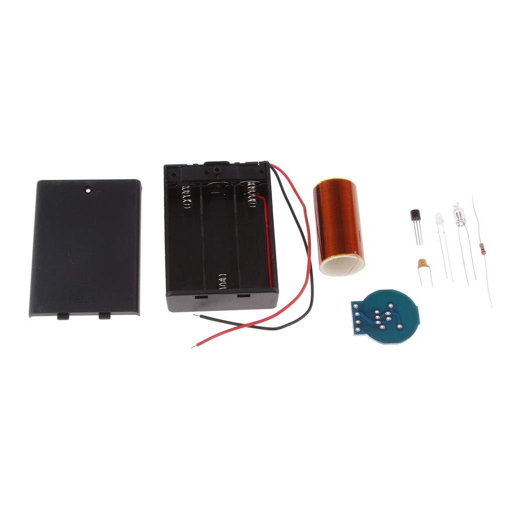 Non brand Sharplace Modulo Mini Kit Bobina Tesla Assemblato Alimentato A Batteria per Progetti Fai da Te per Bambini