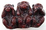 BLP No Evil(Hear,See and Speak) 3 Monkeys Figurine Red 2' H