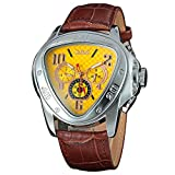 Automatic Mechanical Men Watches Army Triangle Calendar 24Hour Dial Leather Sport Wristwatch