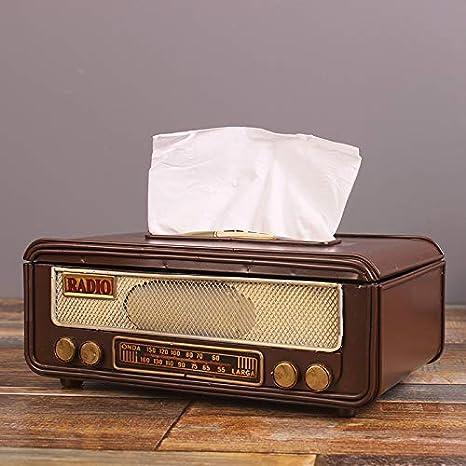 Amazon.com: Caja de pañuelos soporte retro radio caja de ...