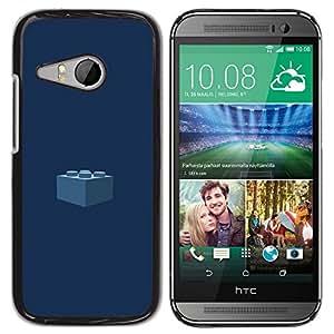 TopCaseStore / la caja del caucho duro de la cubierta de protección de la piel - Piece Kids Navy Blue - HTC ONE MINI 2 / M8 MINI