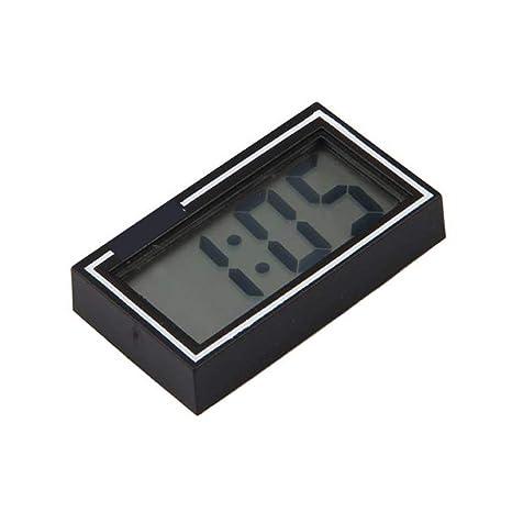DDG EDMMS Portátil Mini Digital LCD Dashboard Escritorio Fecha Hora Calendario Reloj Auto Coche Hora Calendario