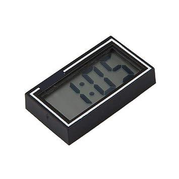 Demiawaking Mini Digital LCD Auto PKW LKW Armaturenbrett Datum Zeit Kalender Uhr