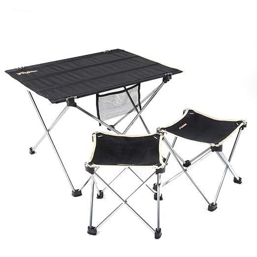 MDBYMX Mesa de Camping Plegable Camping Mesa Plegable y Juego de ...