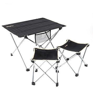ALFYMX Alf Mesa y Silla de Camping Camping Mesa Plegable y ...