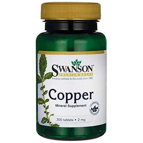 - Swanson Copper Antioxidant Immune System Red Blood Cell Support Mineral Supplement (copper chelate) 2 mg 300 Tabs