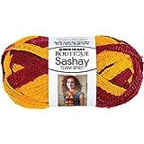 Coats Yarn Red Heart Boutique Sashay Team Spirit Yarn, Burgundy/Gold