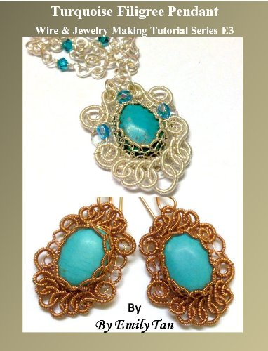 (Turquoise Filigree Pendant Wire & Jewelry Making Tutorial Series)