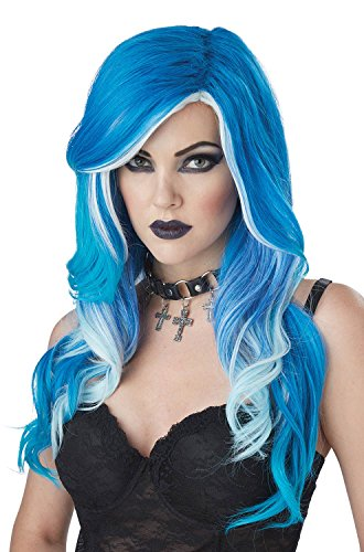 (California Costumes Women's Fatal Beauty Wig, Blue/White, One Size)