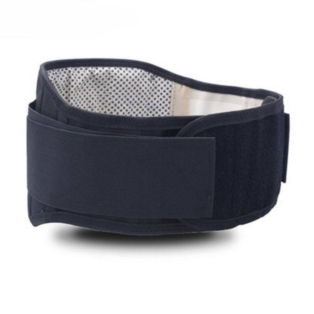 Tcare Adjustable Tourmaline Self heating Magnetic Therapy Waist Support Belt Lumbar Back Waist Brace Double Band Health Care