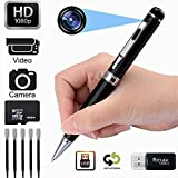 Kaboll 16GB Surveillance DVR Portable Pen HD 1080P Nanny Cam Home Convert Multifunction Camera Perfect Gift for Valentine's Day