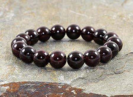10mm Garnet Stacking Bracelet, Yoga Meditation Mala Beads ...