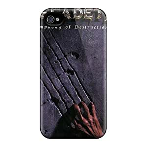 Iphone 4/4s LIx9832nkvX Customized Colorful Megadeth Band Pattern Excellent Cell-phone Hard Cover -CristinaKlengenberg