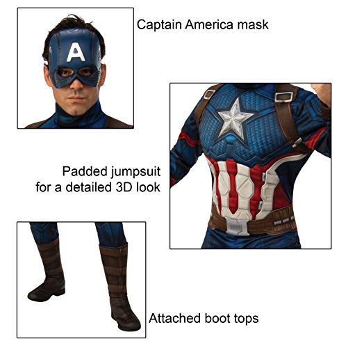 Rubie's Men's Marvel: Avengers Endgame Deluxe Captain America Costume and Mask, Color As Shown, Stan - http://coolthings.us