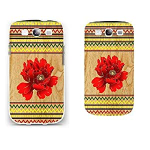 Wood Pattern Protective Phone Back Skin Women Case Shell Cover for Samsun Galaxy S3 I9300 (white)