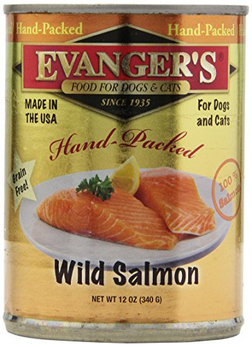 Evangers 12-Pack Hand-Packed Grain Free 100-Percent Wild Sal