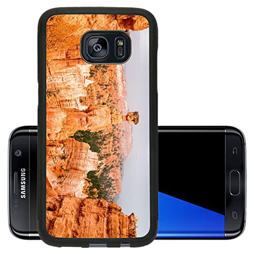 Luxlady Premium Samsung Galaxy S7 Edge Aluminum Backplate Bumper Snap Case IMAGE ID 30722595 Vista of colorful sandstone pinnacles and spires in Bryce Canyon N P in Utah