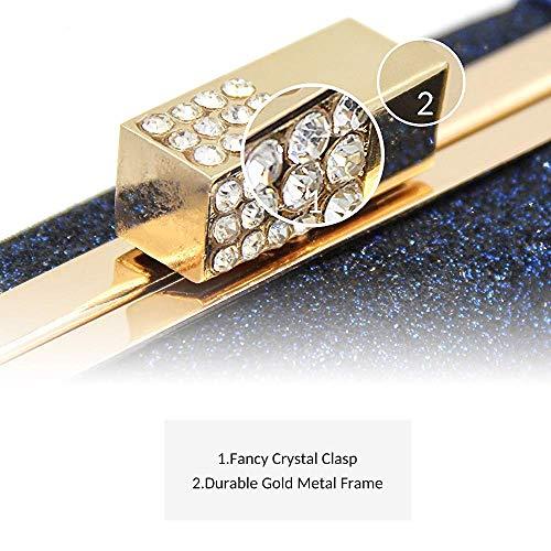 Leather Superw Women Glitter Super Bag Champagne Clutch Crystal PU Patent Flash Evening Rhinestone Clutches Bags Purses B7qBa