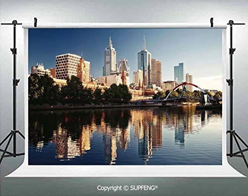 Photo Backdrop Idyllic View of Yarra River Melbourne Australia Architecture Tourism 3D Backdrops for Interior Decoration Photo Studio Props -