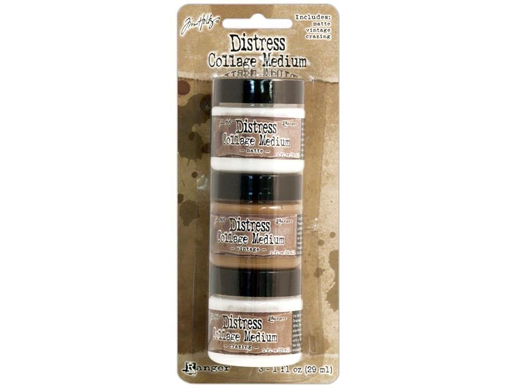 3 Unidades 3//4/DE Pulgada Tim Holtz Ranger Distress Collage Cepillo