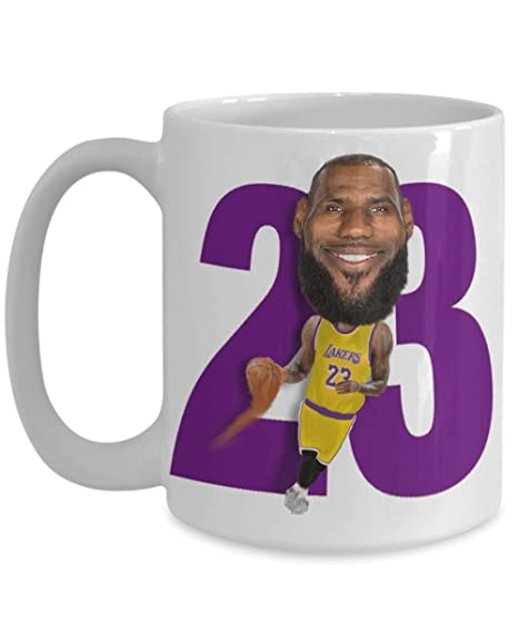 66cd3aaf709 Amazon.com  Lebron Lakers Coffee Mug Gift for LA Basketball James ...