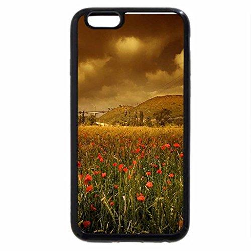 iPhone 6S / iPhone 6 Case (Black) copper fields