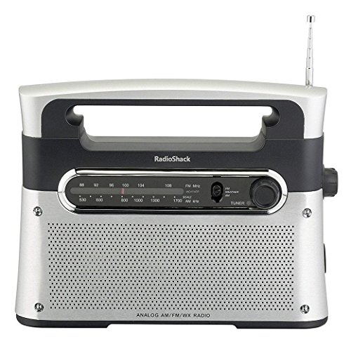 RadioShack Portable Analog Tuning AM/FM/Weather Tabletop Radio from RadioShack