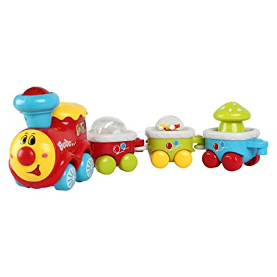 BAOLI Electric Train Track Toy Car Playset with Light and Music ,Car Toys for Kids Baby Toy Cars for 2 Year Old Toddler Early Educational Cars Toy: Toys & Games [5Bkhe1805115]