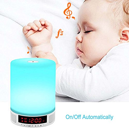 DYTesa-Romantic-Outdoor-Night-Light-Bluetooth-Speaker-with-Bedroom-Table-Lamp-Support-Touch-Sensitive-Control-Panel-and-Alarm-Clock-for-kids