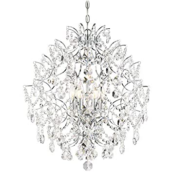 Minka Lavery 3157-77 Chandelier Isabella s Crown, 6-Light 360 Watts, Chrome, Image