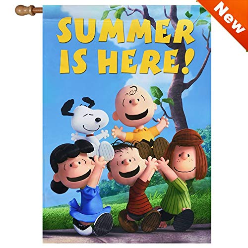 (Jetmax Peanuts Summer is HERE House Flag Snoopy 28