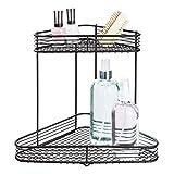 iDesign Vienna 2-Tier Corner Shelf for Cosmetics and Toiletry Storage, Bathroom, Countertop, Desk, and Vanity - Matte Black