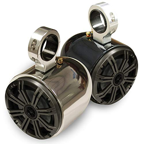 Monster Tower Kicker Single Barrel Speakers - Universal Inserts - Polished and Anodized - Pair
