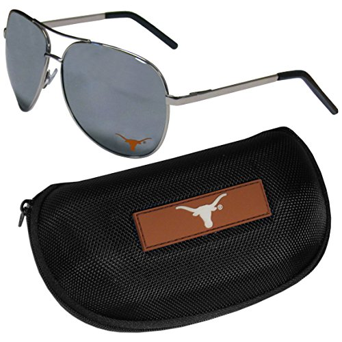 NCAA Texas Longhorns Aviator Sunglasses & Zippered Carrying Case
