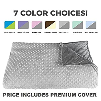 Image of Premium Weighted Blanket, Perfect Size 60' x 80' and Weight (12lb) for Adults and Children. Deluxe CALMFORTER(tm) Blanket. Price Includes Cover! Platinum Health B075RH1G7D Weighted Blankets
